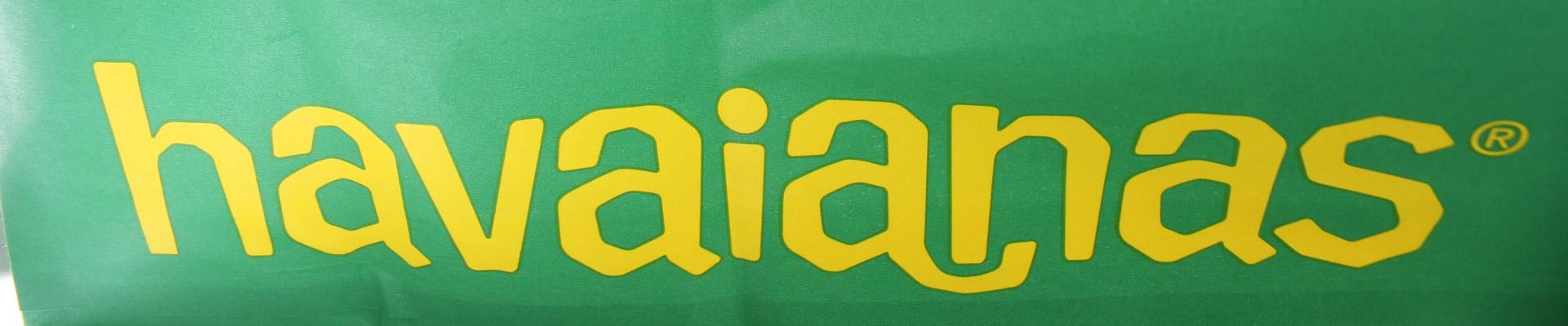 havaianas logo tongs femme